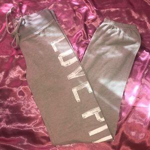 Super soft light gray pajama pants